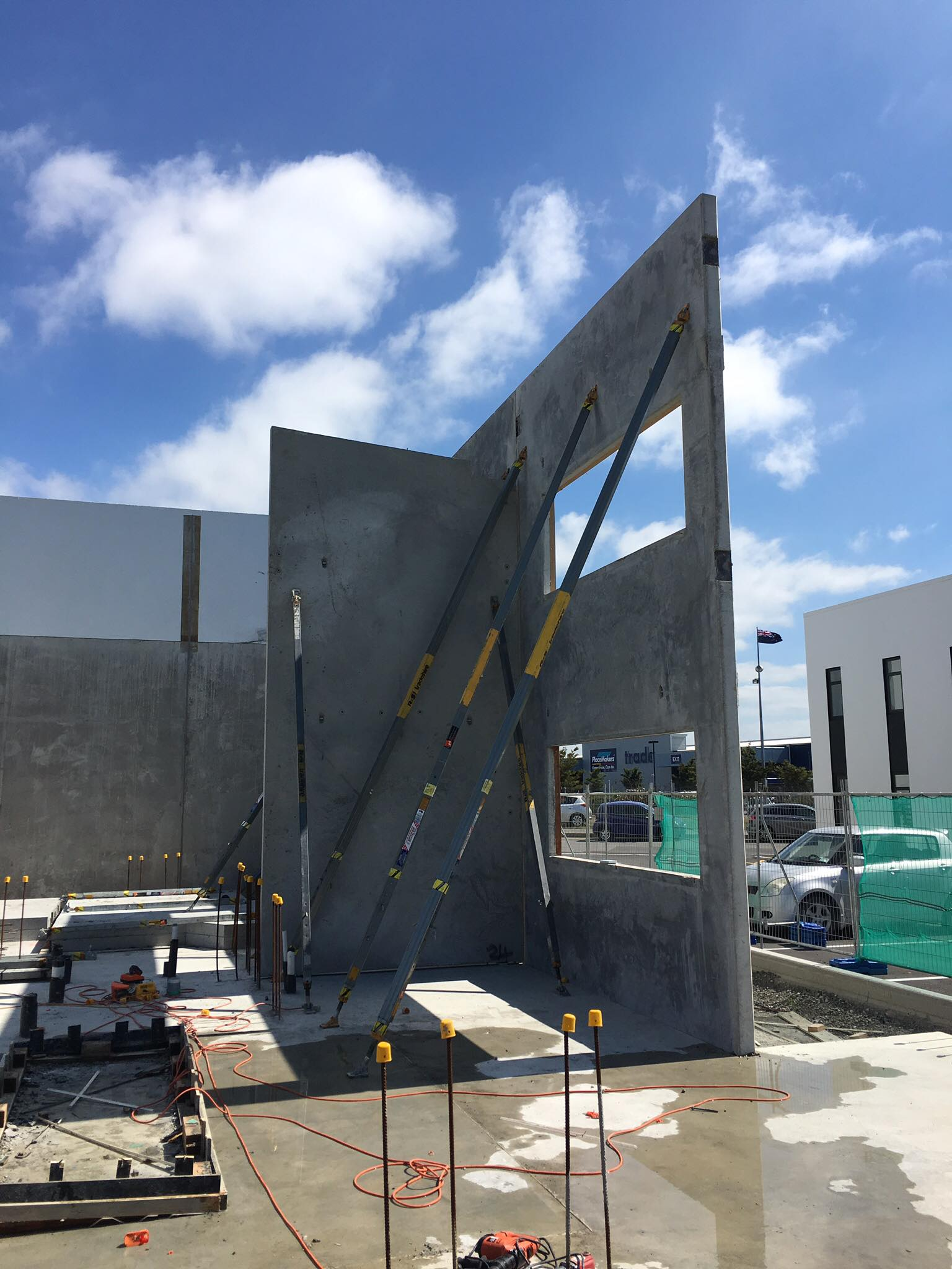 Our team working on the Lowe Commercial Construction project in Christchurch