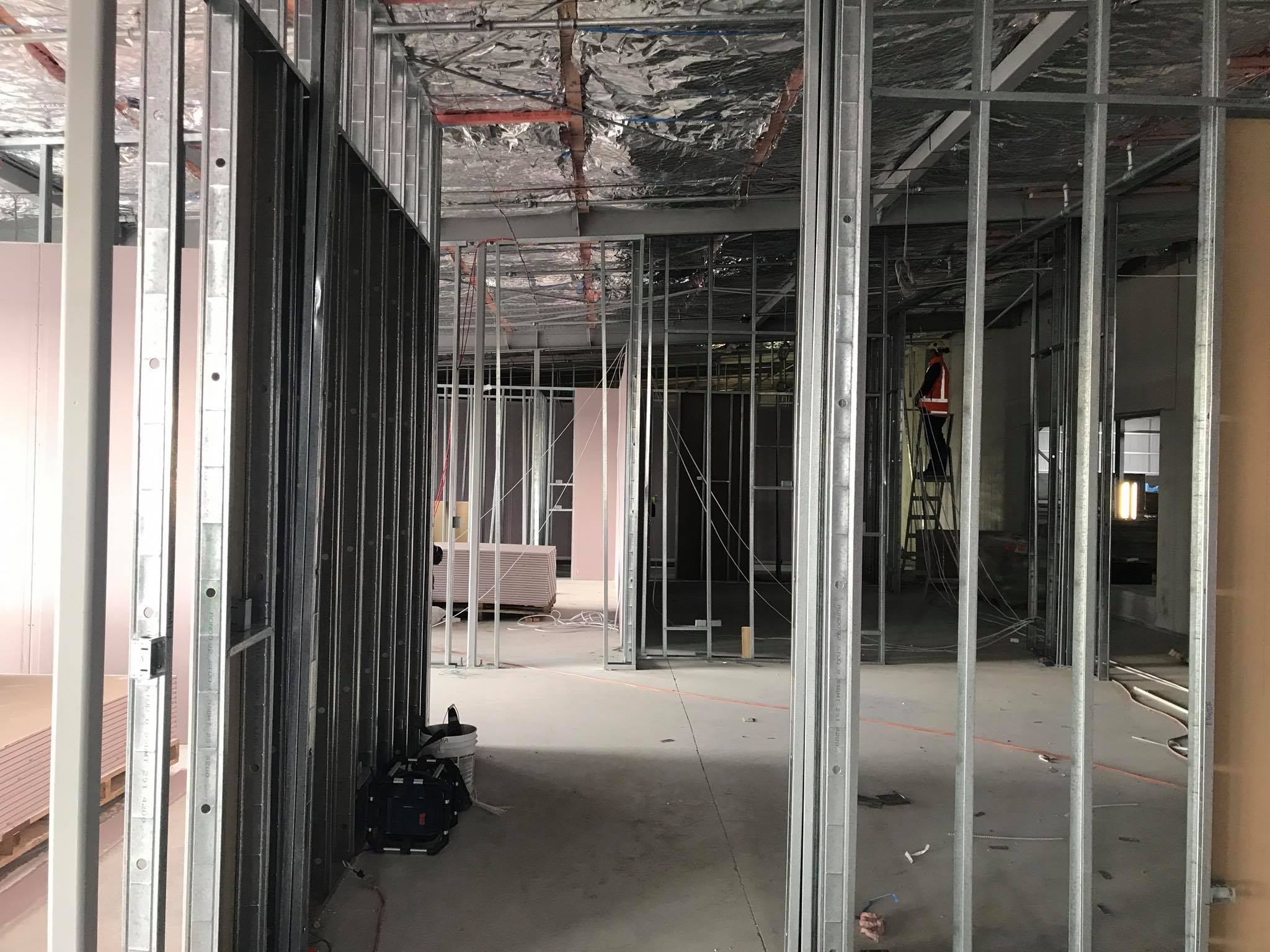 Our team working on this Christchurch office fit-out