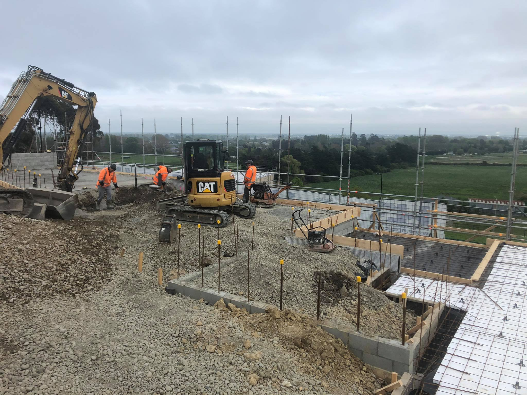 The H3 Construction team working on the Redmond Architectural New Build project