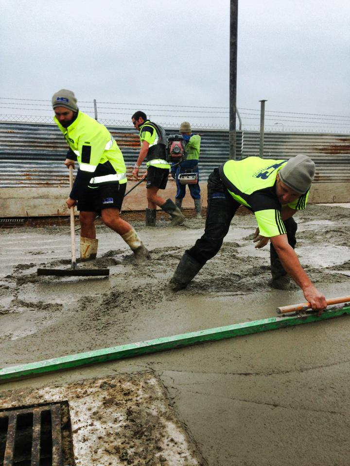 Our team working on the Scott Machinery Concrete Placing project in Christchurch