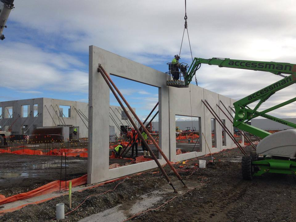 Our builders working Wigram Park Commercial Construction Project in Christchurch
