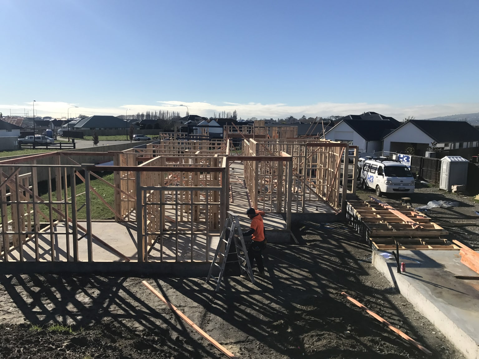 Our team of builders working on a New Build in Christchurch