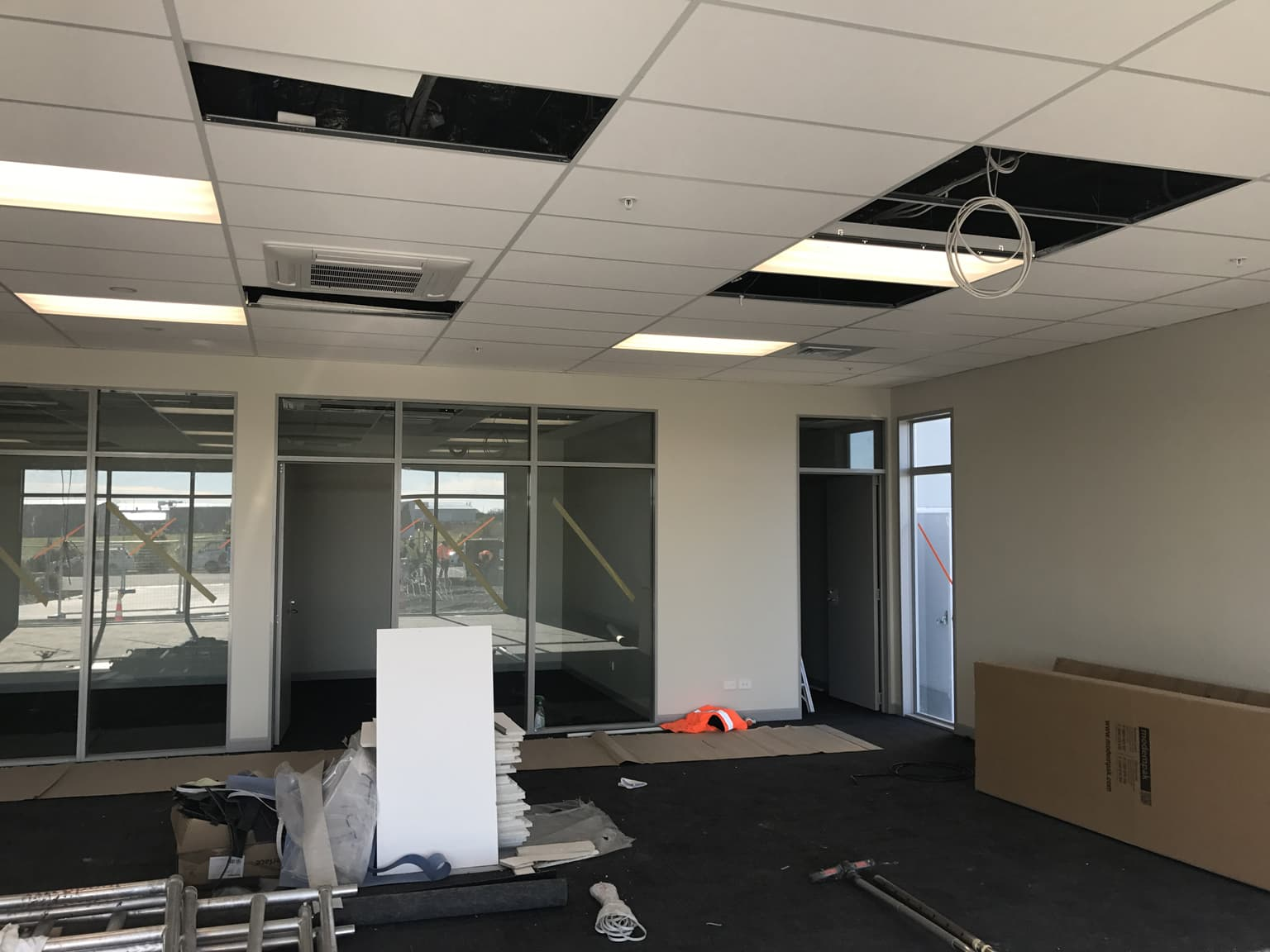 A commercial construction project undertaken by H3 Construction in Christchurch