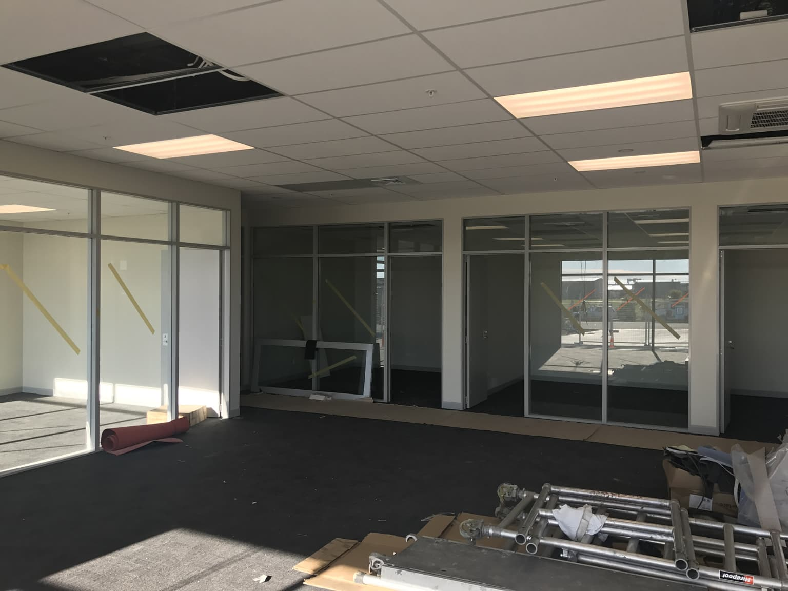 A commercial office fit-out done by the builders in Christchurch at H3 Construction