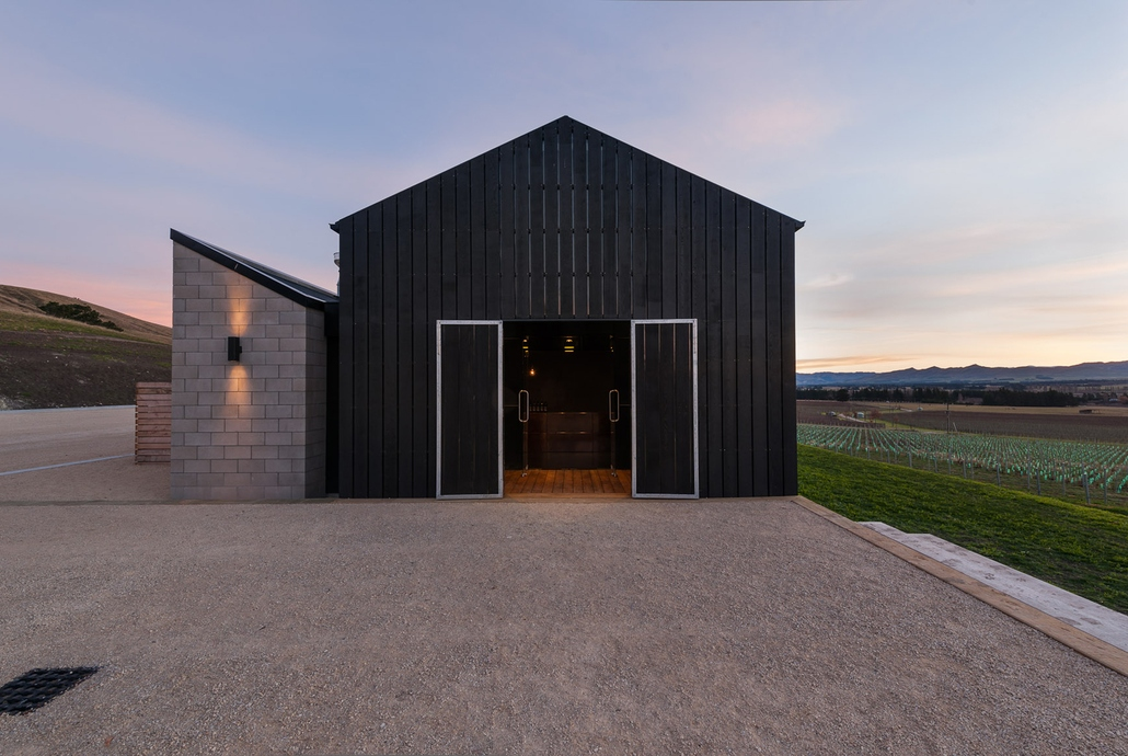 Black Estate Winery Architectural Build by H3 Construction in Waipara